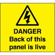 Warn115 - Danger Back Panel